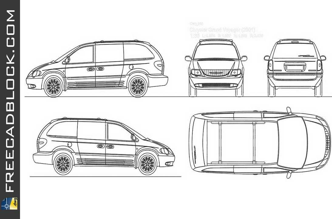 Drawing Chrysler Voyager 2001 dwg
