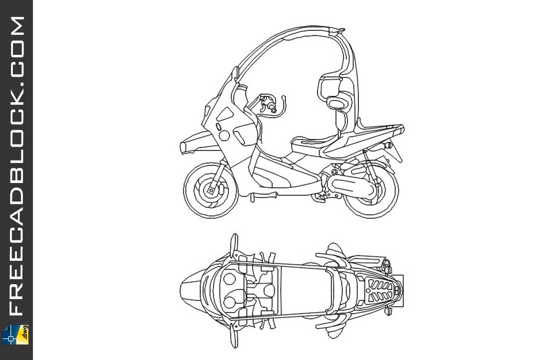 Drawing BMW C1 dwg for Autocad