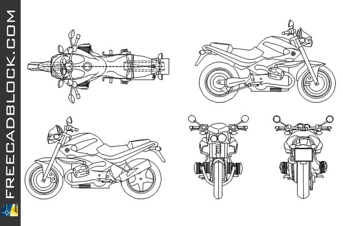 Drawing BMW Rockster 1150 dwg for Autocad