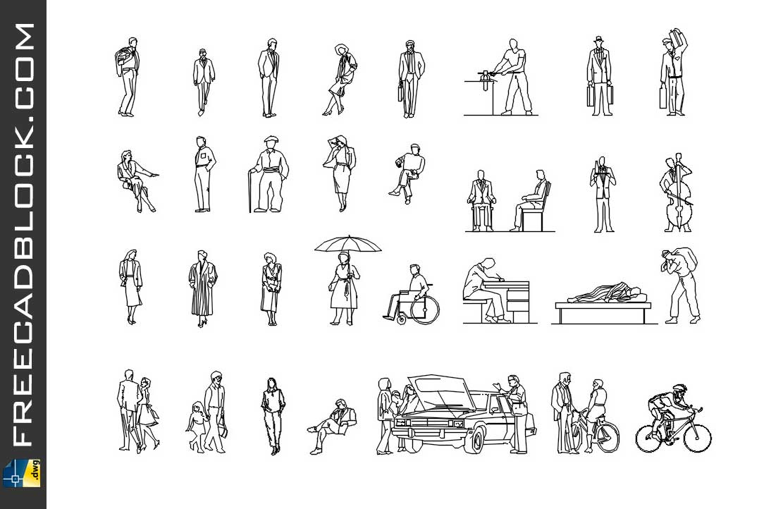 Download Casual people dwg in Autocad