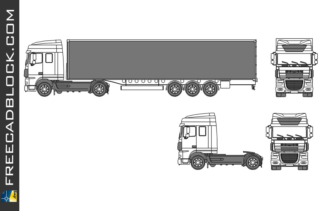 DAF XF 105 Space Cabin Dwg Drawing in Autocad