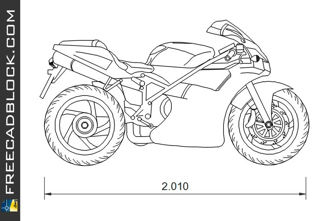 Drawing Ducati 996 dwg for Autocad