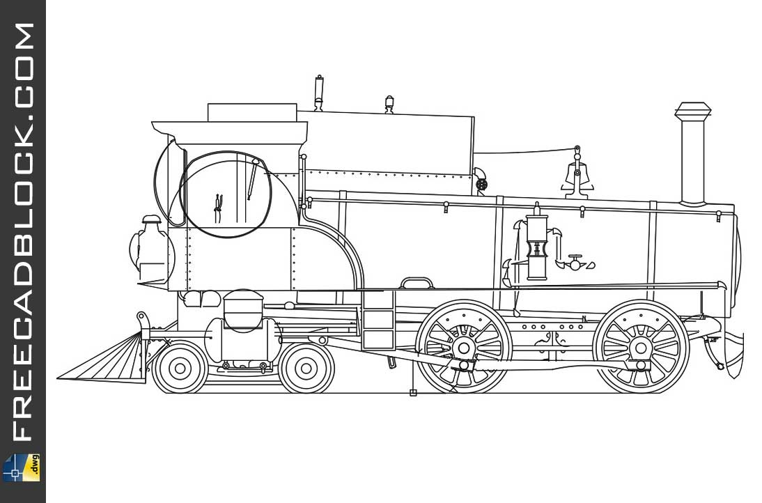Drawing Historic Locomotive Dwg