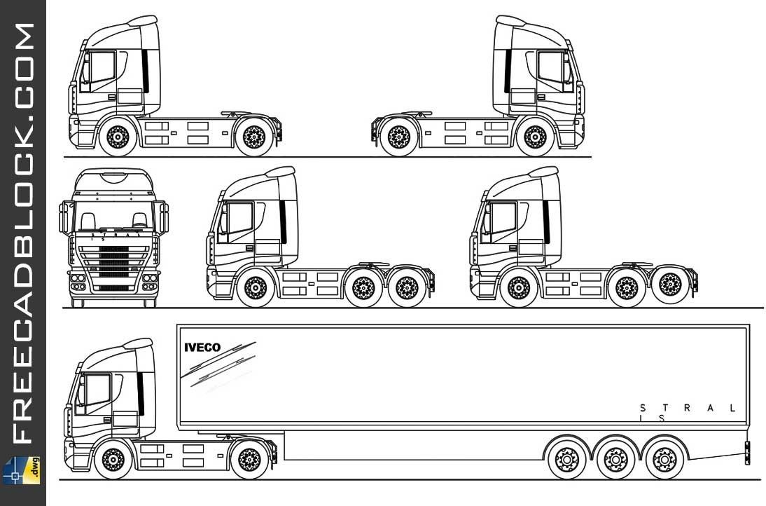 Drawing IVECO Stralis dwg in Autocad