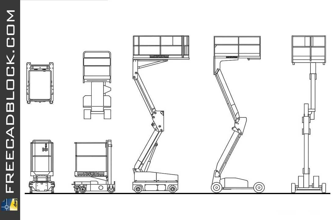 Drawing Mobile elevating platform dwg
