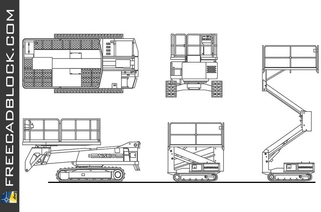 Drawing Mobile lifting platform dwg