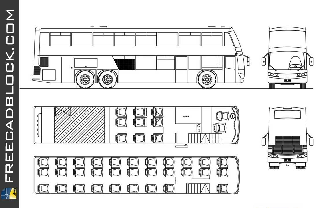 Drawing Onibus viagens dwg in Autocad
