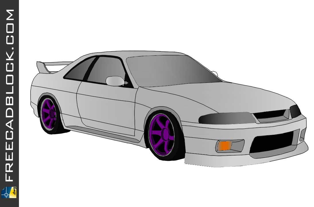 Nissan Skyline R33 Dwg drawing in Autocad