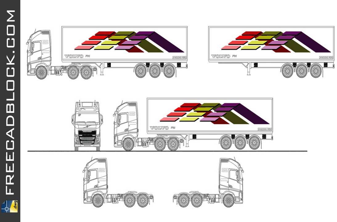 Drawing Volvo fm dwg in Autocad