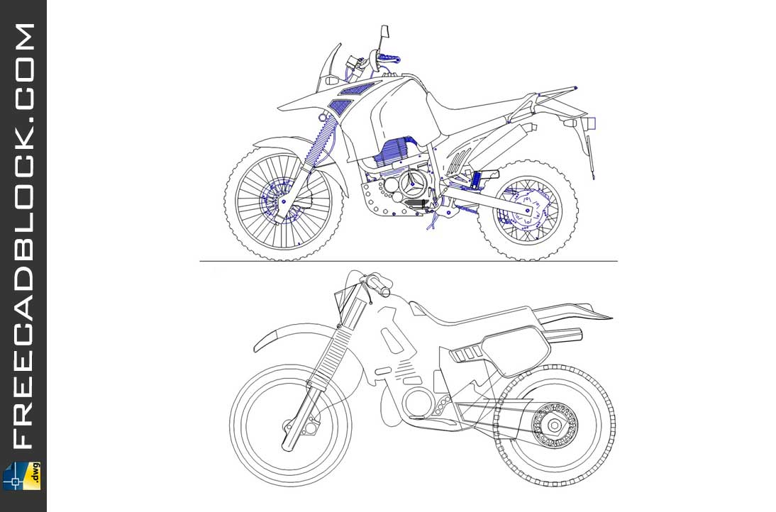 Drawing moto cross dwg for Autocad