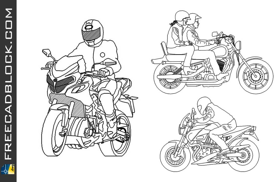 Drawing motociclista dwg for Autocad